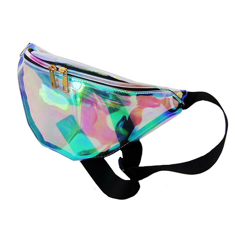 Women Holographic Custom Fanny Pack Hologram Beach Waist Bag Purse Bag