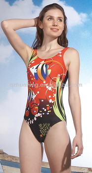 4ffb6b4080 Hot Sale Beautiful Girl s Digital Print One Piece Tight Swimsuit ...