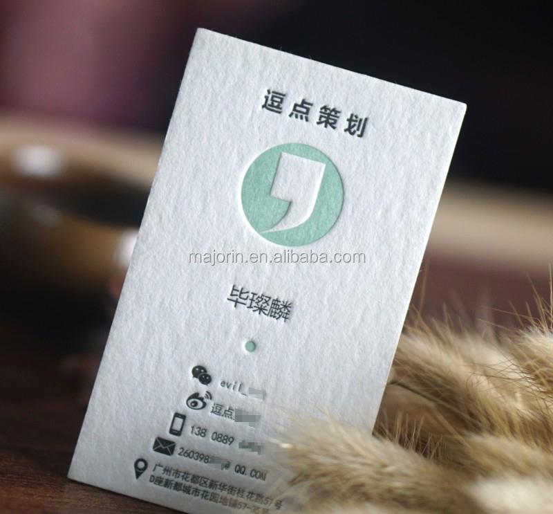 Farbige Rand Dicker Baumwolle Papier Visitenkarten Deboss Buch Papier Karten Buy Deboss Buch Papier Karten Dicker Baumwolle Papier