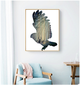 New Design Home Decor Wall Art Prints Of Abstract Eagle On Canvas Best Price For Wholesale