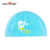 Lycra Swim Cap With PU Coat Cartoon Swimming Cap Kid Size