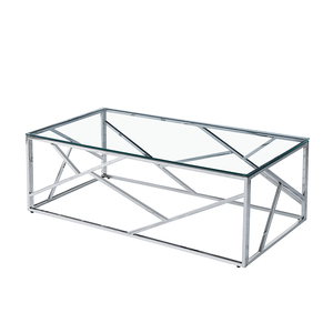 Exllent Quality european design classic nordic Style 10mm tempered Glass mirrored acrylic rectangle Coffee Table