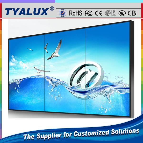 55 inch Portable LCD TV wall with flight case with SAMSUNG panel 1.9mm seam