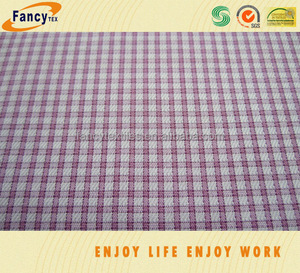 gingham check yarn dyed cotton fabric