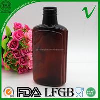 supply 250ml biodegradable empty alcoholic drinks flat plastic bottle wholesale