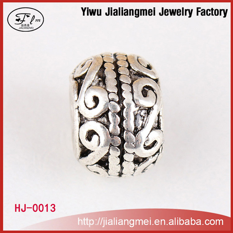 Factory Sale Wholesale Fashion Jewelry Drum Shape Beads Zinc Alloy Spacer Bead