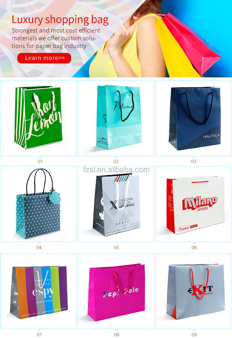 Wholesale Colorful Present Shopping Packing Custom Made Merry Christmas Paper Gift Bags With Handles