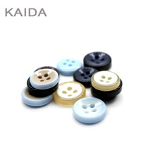 fancy colorful 4 holes sewing button resin shirt button for garment
