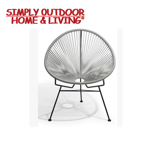 Leisure Colorful Steel Frame PE Egg Shape Chair Rattan / Wicker Chair