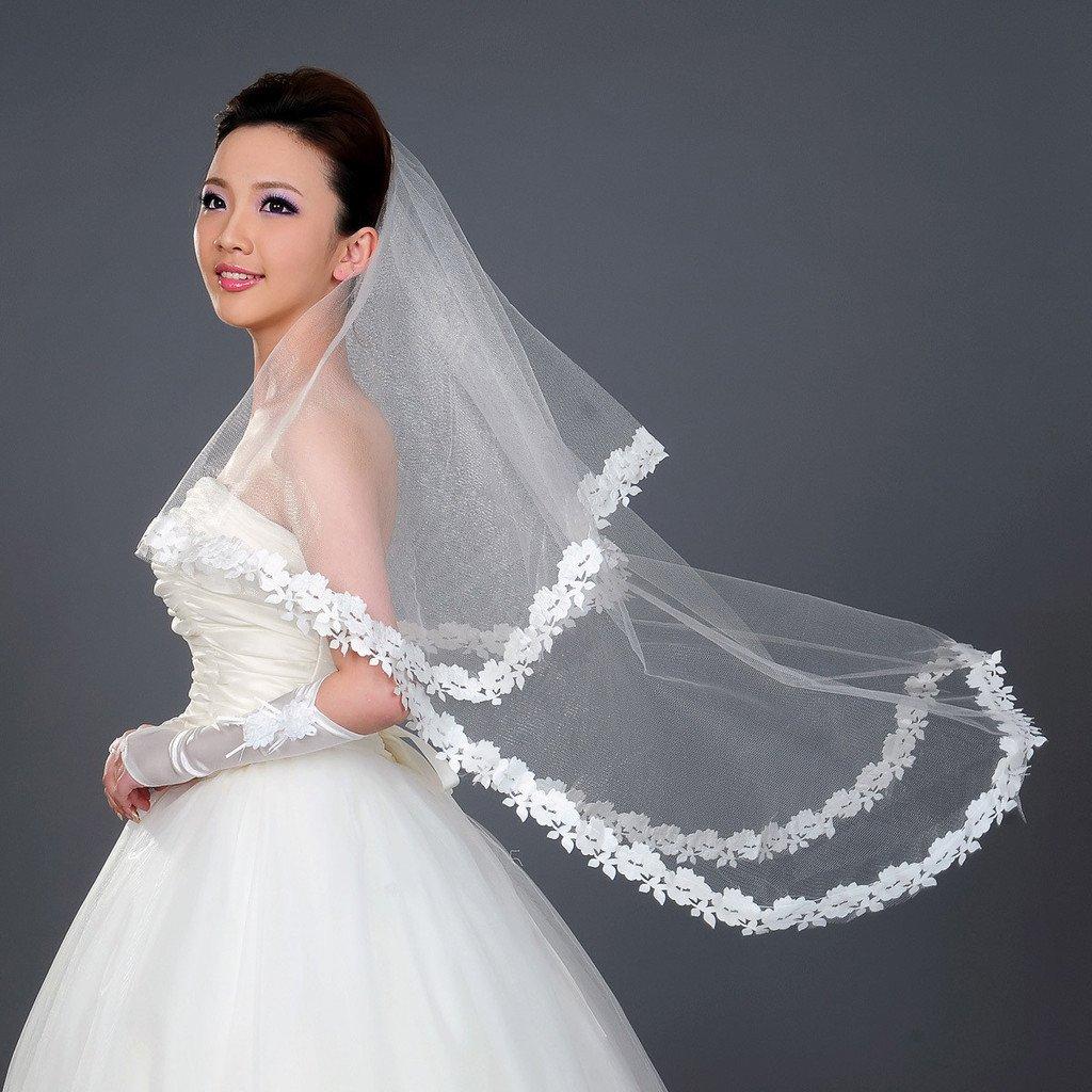Long Wedding Hairstyles With Veil: Bridal Veil 1.5 Meters Long Wedding Hair Accessory