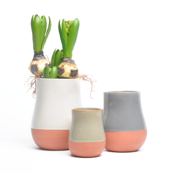 New Products Cylinder Shape Half Clay Plant Pots Fancy Mexican Terracotta Pot
