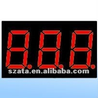 0,28 inch 7segment 3 digits LED display module