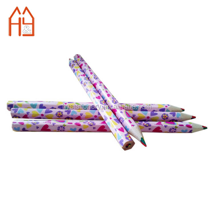 Low MOQ wooden 4 in 1 multi lead colour pencil