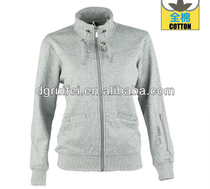 Zip Up Hoodie Without Hood 41