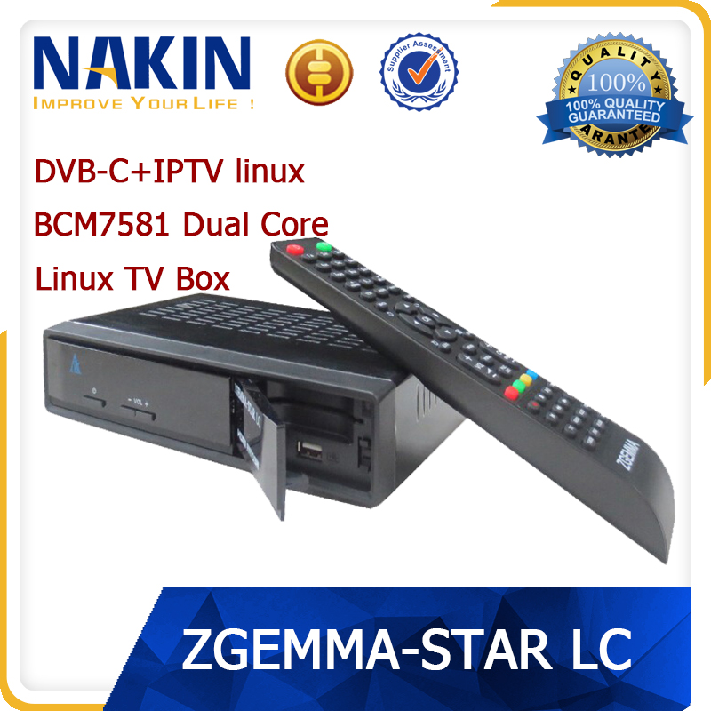 Linux Zgemma Star LC iptv receiver one dvb-c tuner dual core