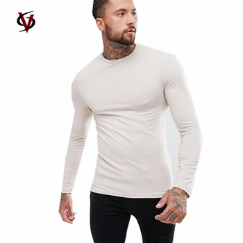 d9dabaf8c7b Custom mucel fit long line sleeve t shirts men and tux tail tee drop long  tail