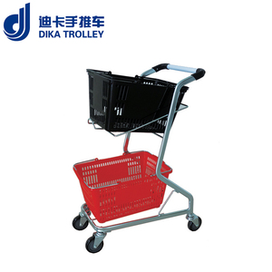 Double basket trolley shopping cart