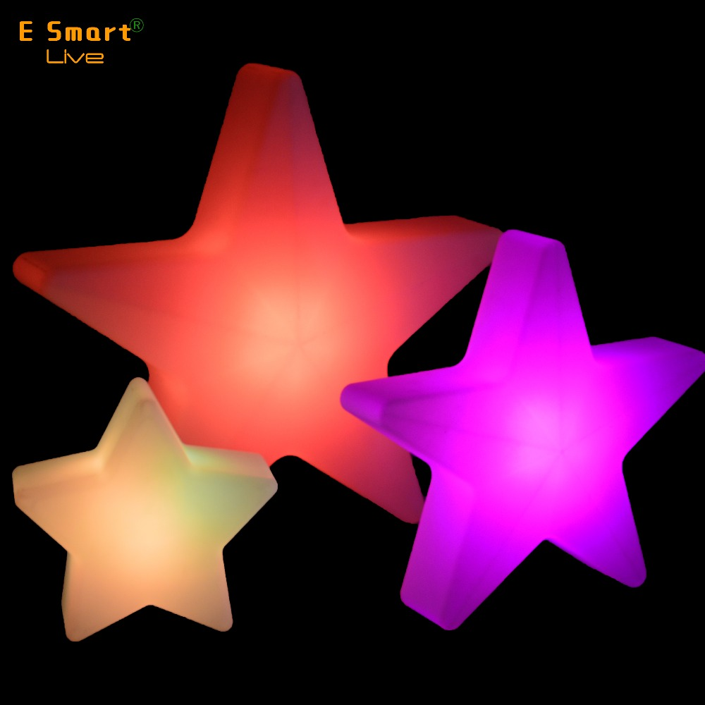Glowing Christmas Star Color Changing LED Lamp,led five-point christmas star outdoor,star shape led christmas lights