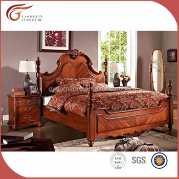 Antique American Style Solid Wood Bedroom Set Bed A58 Bedroom Furniture Made In China Buy