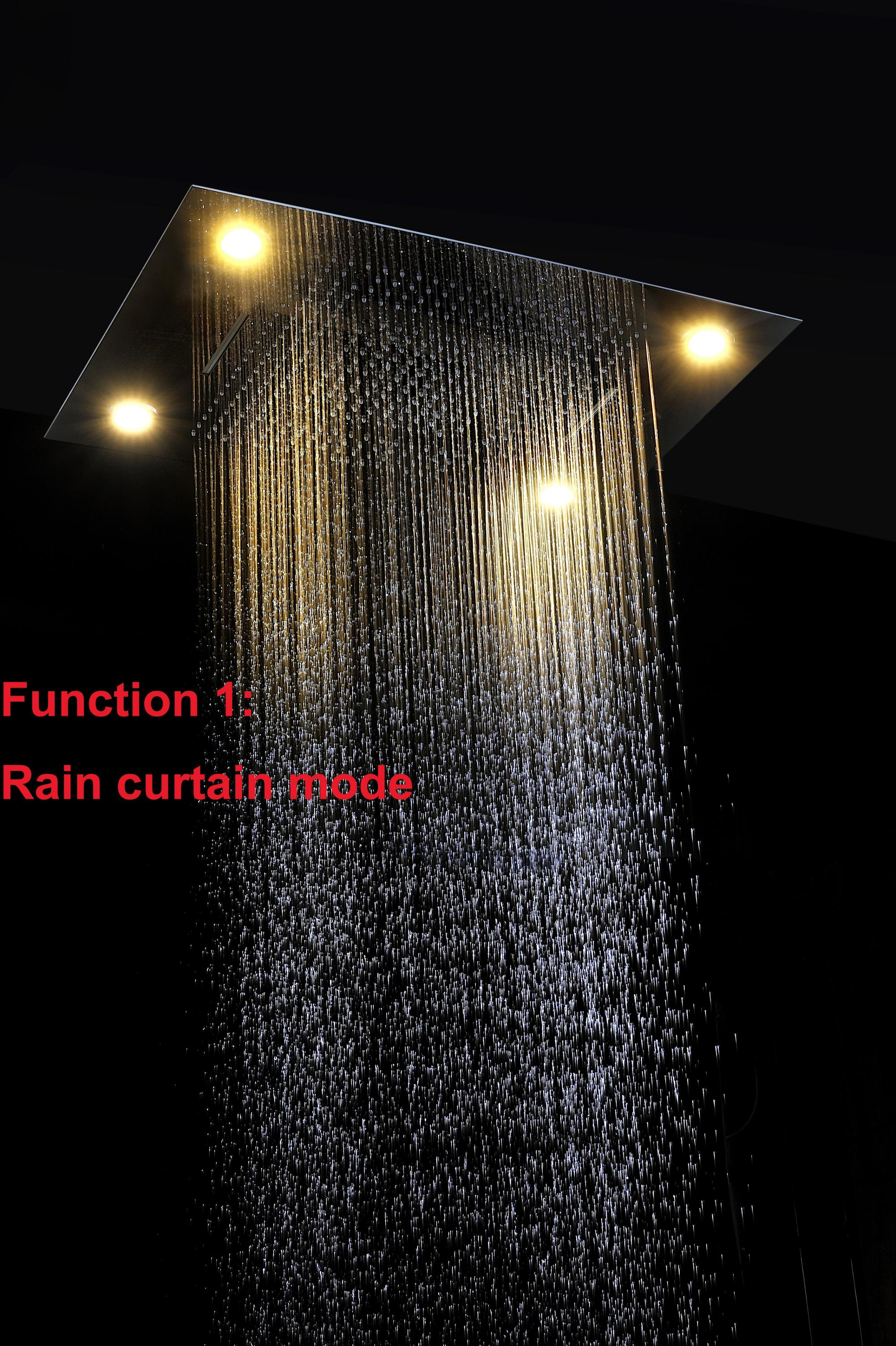 Modern 5 Functions Shower Faucets Set Thermostatic Mixer