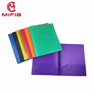 MIFIA letter a4 size plastic poly document two pocket folders for office