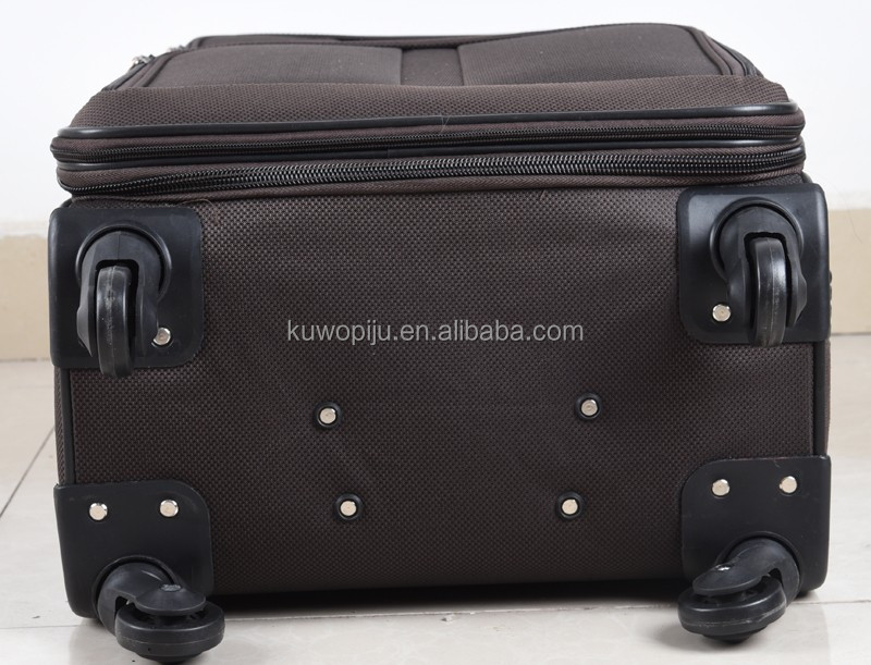 Pas cher EVA tissu 4 roues spinner bagages ensemble Softside cool 3 pcs ensemble bagages valise