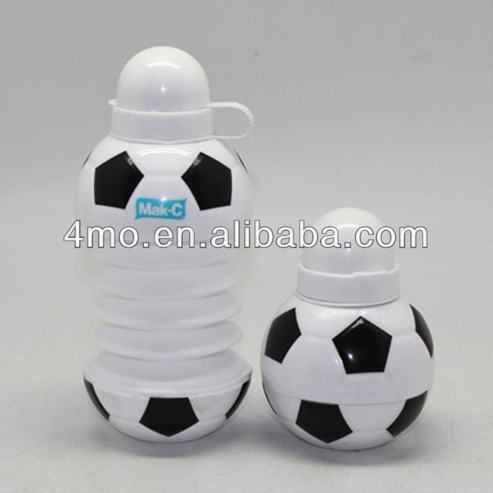 Promotional Gifted Logo Customized Collapsible Water Bottle shaker, Plastic Balls Foldable Water Bottle 400ml