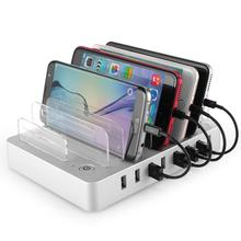 With EU/UK/US/AU/JP charging cable ,multip device 8 Port USB charging station for iphone ipad galaxy smart phones tablet