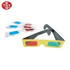 3D paper anaglyph red cyan chromadepth Glasses