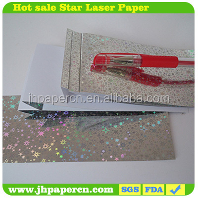 star style holographic film laminated metallized paper