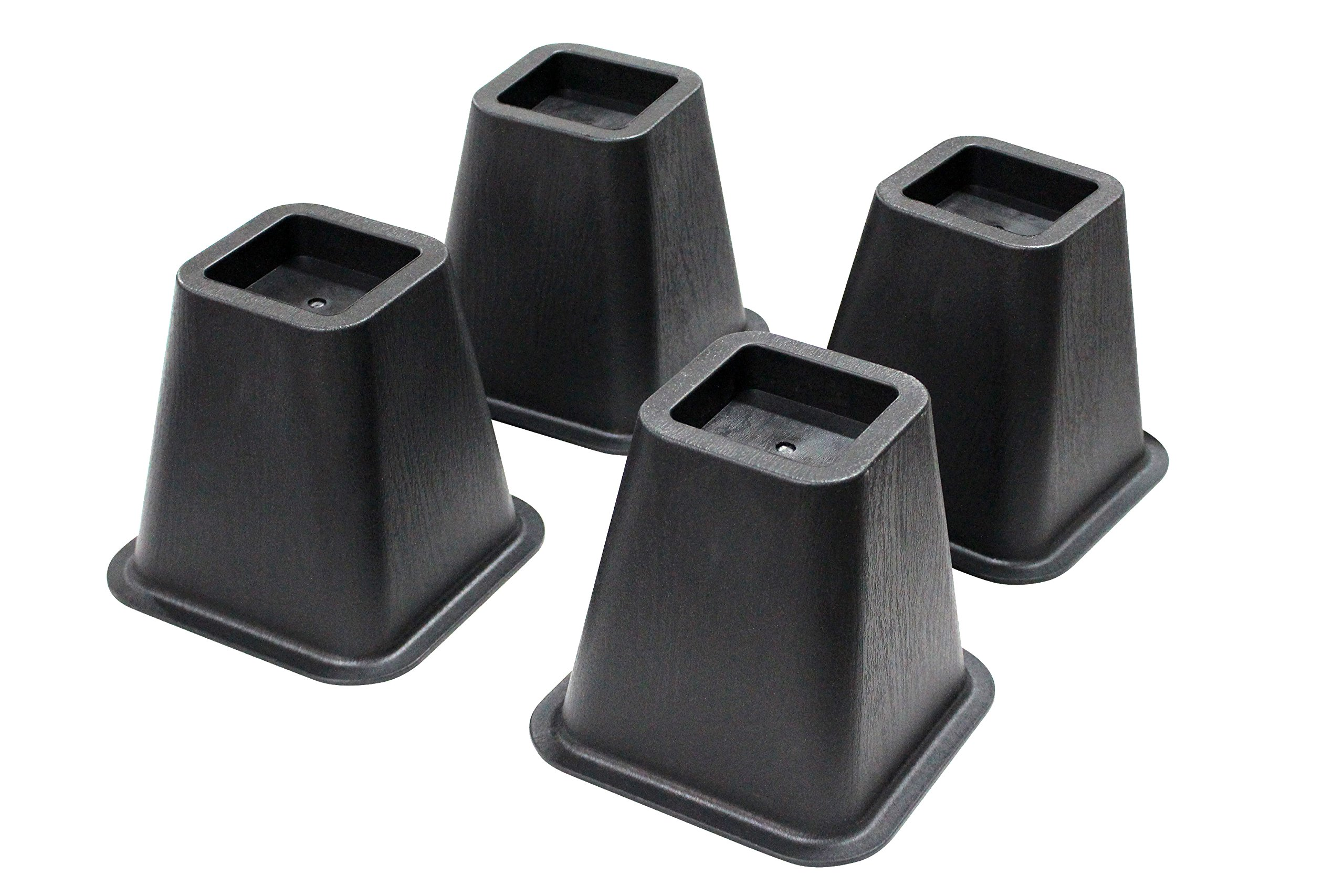 Jeronic 4-pack 5.25 Inch Bed Risers, Furniture Riser Bed Riser and Bed Lifts