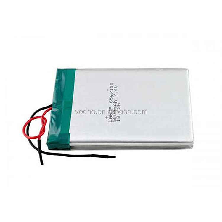 7.4V 6567100 5000mAh lithium polymer battery for tablet PC