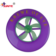 Promotional various durable using silicone customed indoor frisbee with logo for toy or pet