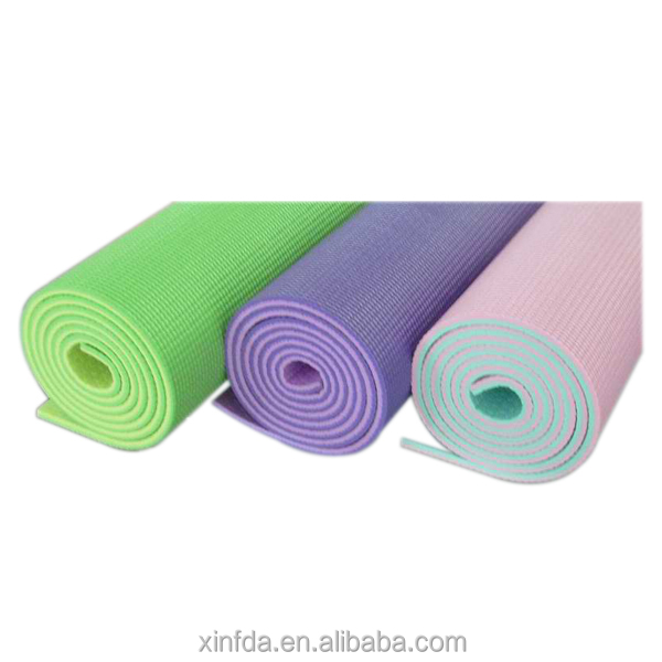 Eco Friendly PVC yoga mat dould color yoga mat custom print Anti-Slip Yoga Mat for body building