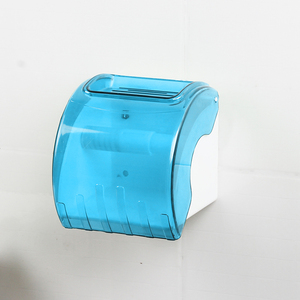JNY98101-BL Cheapest Hotel Public Toilet Wholesale Blue Round Plastic Wall Mounted Tissue Paper Dispenser