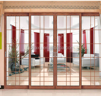 Grill Design Aluminium Profiles 3 Panel Sliding Glass Shower Door