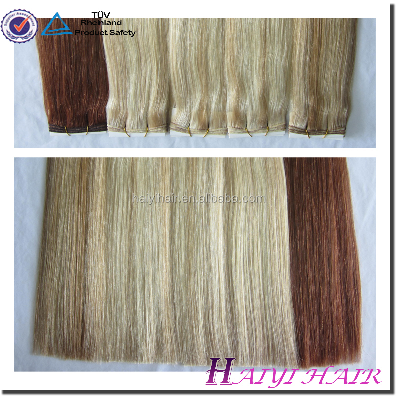 New Arrival Double Drawn Thick Ends Mixed Color Remy Hair Extensions