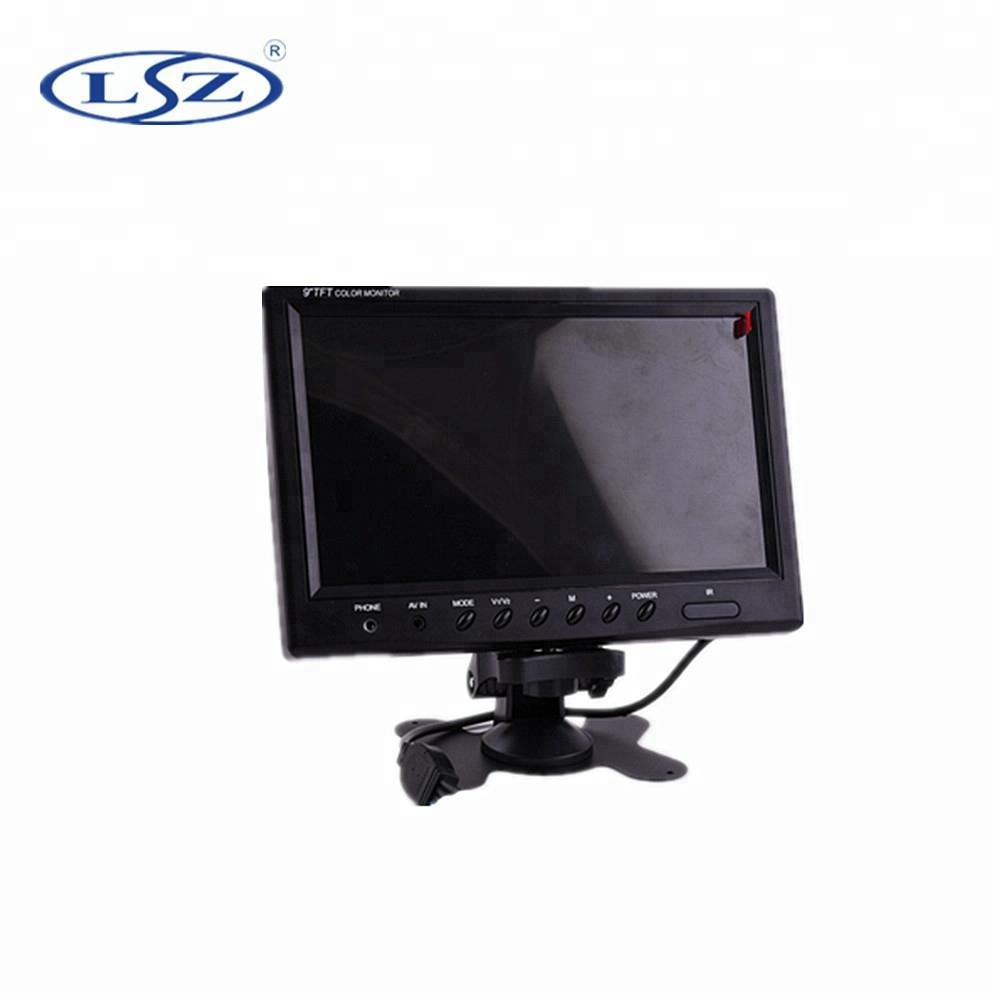 9 inch TFT LCD Vehicle <strong>Monitor</strong> with AV input for bus taxi truck train school bus