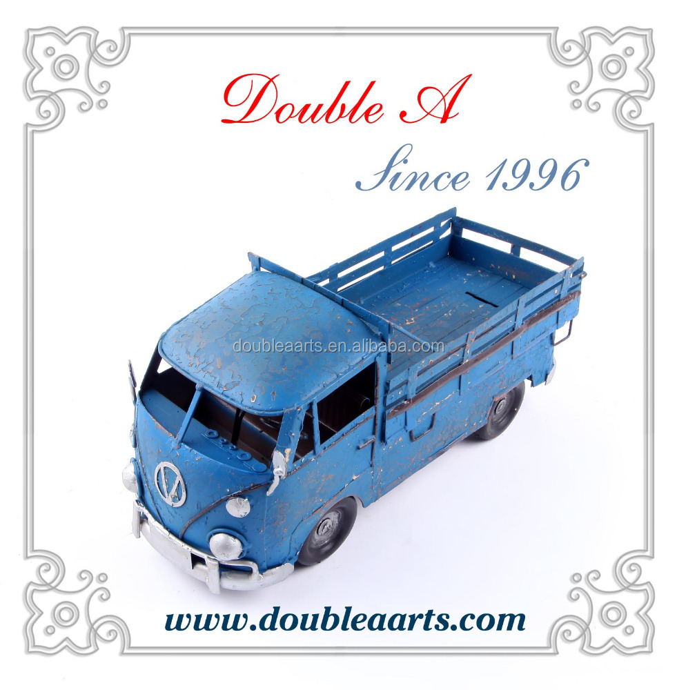 Wholesale American country style metal truck model iron crafts decorative home decor metal crsfts collection