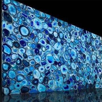 Blue Marble Slab Floor Tile Artificial Onyx Quartz Stone Price
