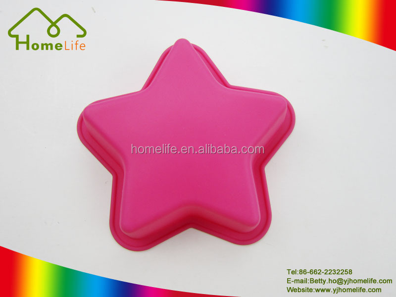 Star shaped silicone chocolate candy toffee milk jelly mini baking cake mold
