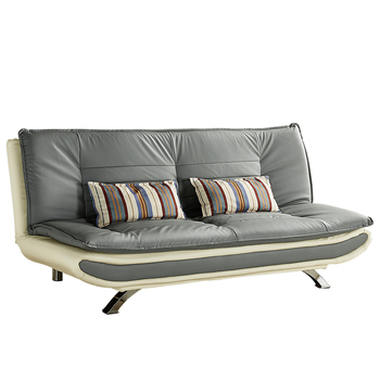 Flocked Inflatable Folding Twin Sofa Bed Converts Into A Small Single Furniture