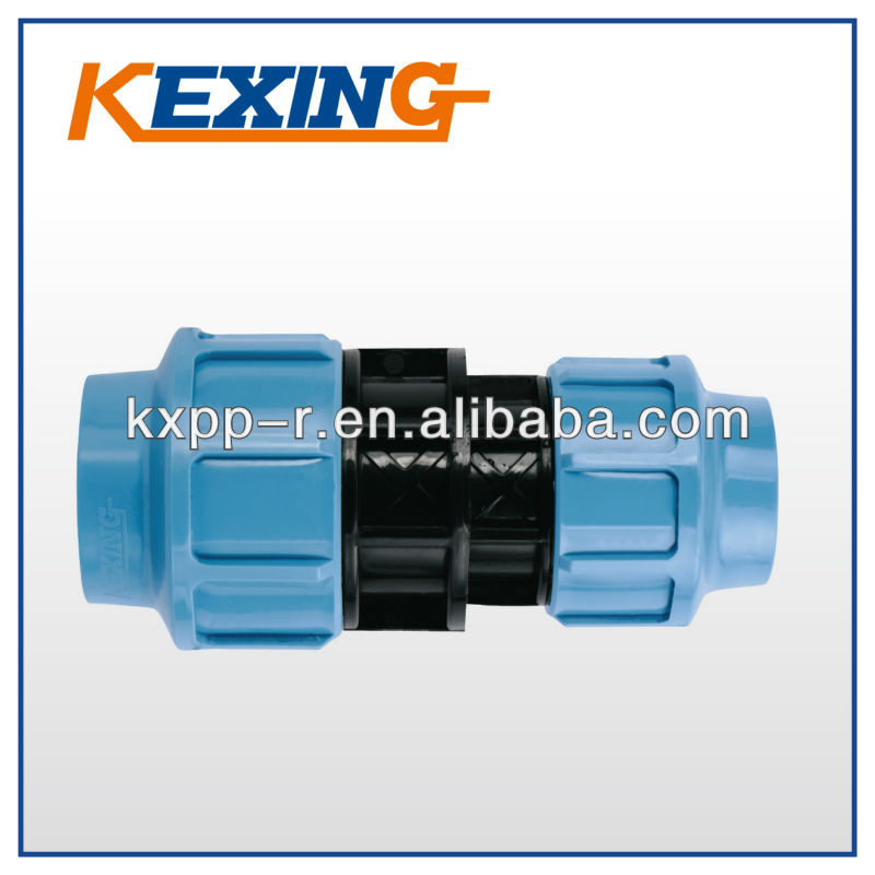 LOW PRICE HIGH QUALITY HDPE PP PE Compression fitting Reducing adaptor PN10 PN16 ISO CE Plastic Products KEXING