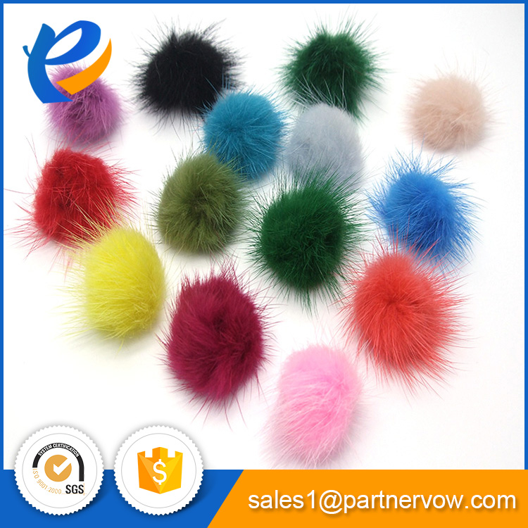 Customized professional high quality mink fur ball OEM