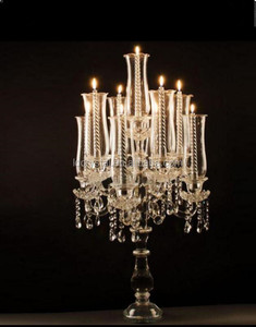 elegant wedding table centerpieces 9 candles crystal candelabra