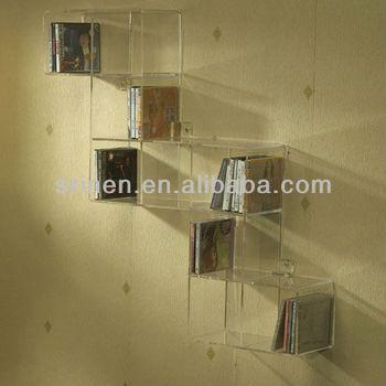 wall mounted acrylic display box for putting cd buy wall mounted