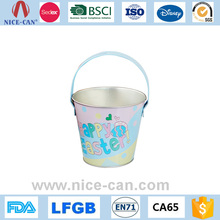 Wholesale decorative easter candy storage metal bucket