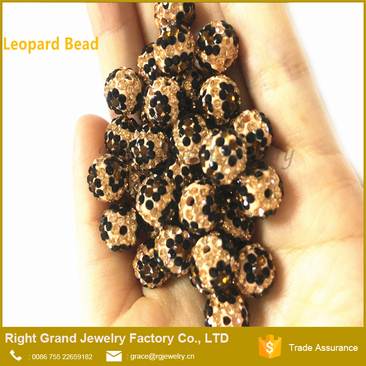 Wholesale Price Fashion Handmade 10mm Loose Bead For Necklace Bracelet DIY Leopard Bead