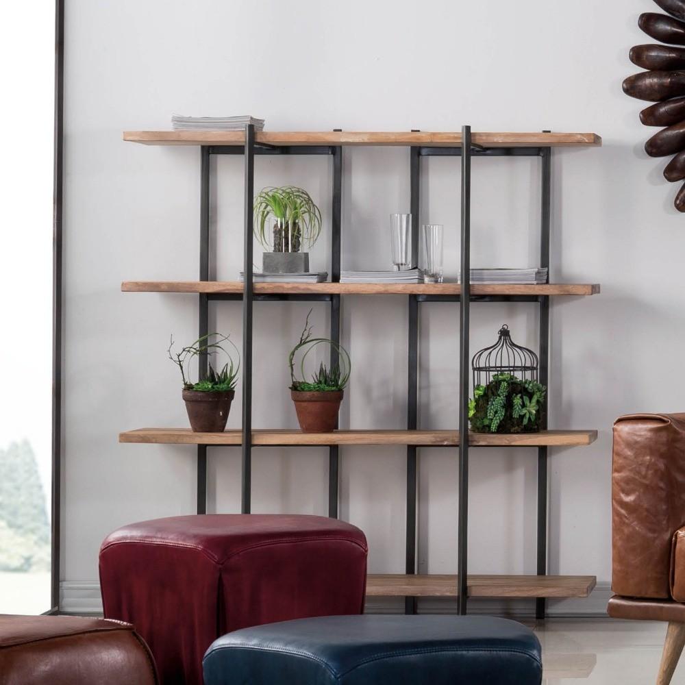 Living Room Sm Furniture Cabinet Divider Metal And Wooden Storage 3