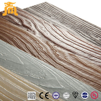 100% Asbestos Free High Strength Imitation 3D Wood Texture Lap Siding Fiber Cement Board